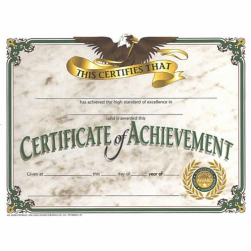 Certificate of Achievement, 8.5  x 11 , Pack of 30 Perspective: front