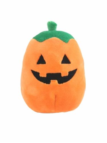 Squishmallows Halloween Pumpkin Plush - Orange/Green Perspective: front