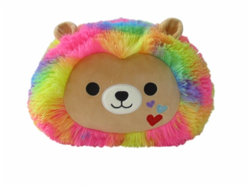Squishmallows Stackable Rainbow Lion Plush Perspective: front