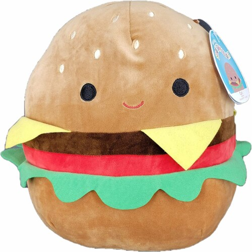 Original Squishmallows 8 Inch Cheeseburger - Carl Perspective: front