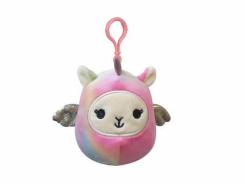 Squishmallows Tie Dyed Llama Pegacorn Plush Perspective: front