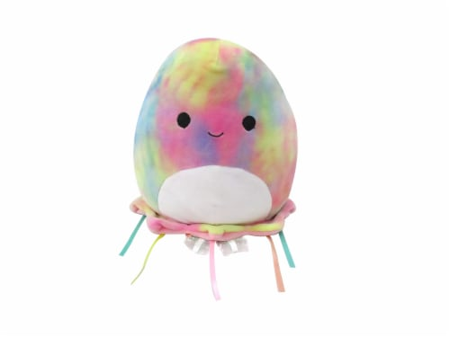 Squishmallows Rainbow Tie Dyed Jellyfish Plush Perspective: front