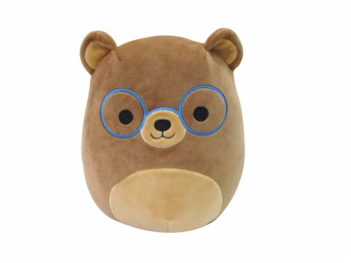 Squishmallows Bear with Glasses Plush Perspective: front