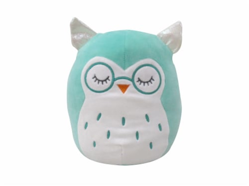 Squishmallows Owl with Glasses Plush - Teal Perspective: front