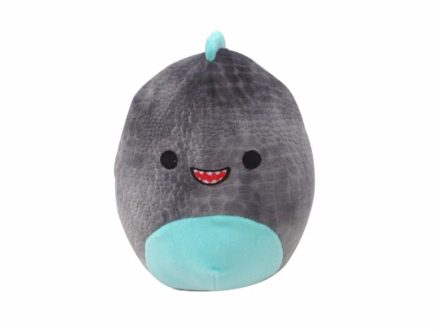 Squishmallows Textured Dino Plush - Gray Perspective: front