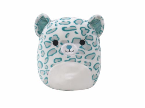 Squishmallows Printed Cheetah Plush - Teal Perspective: front