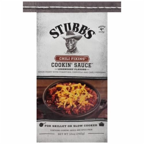 Stubb's Chili Fixins Cookin' Sauce Mix Perspective: front