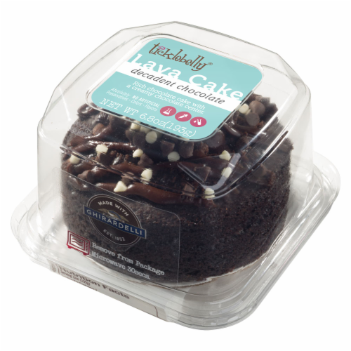 Ticklebelly Decadent Ghirardelli Chocolate Lava Single Serve Cake Perspective: front