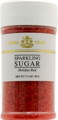 India Tree Holiday Red Sparkling Sugar Perspective: front