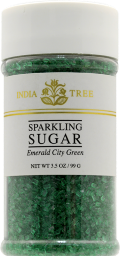 India Tree Emerald City Green Sparkling Sugar Perspective: front