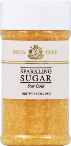India Tree Star Gold Sparkling Sugar Perspective: front