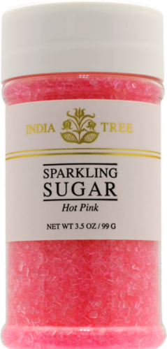 India Tree Hot Pink Sparkling Sugar Perspective: front