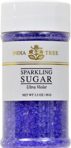 India Tree Ultra Violet Sparkling Sugar Perspective: front