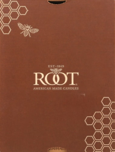 Root Candles Timberline Collenette Candle - White Perspective: front