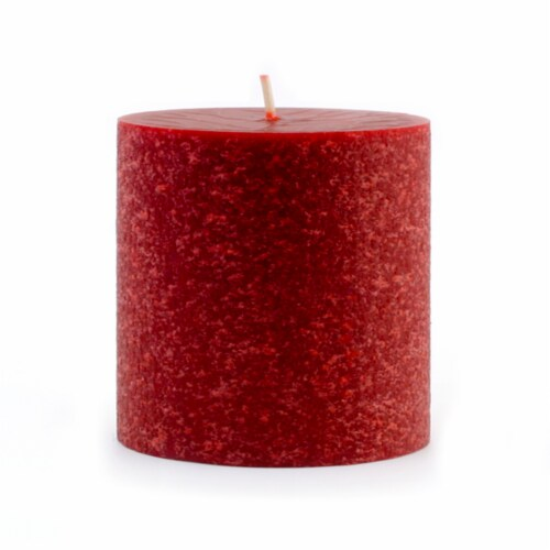 Root Candles Timberline Unscented Pillar - Garnet Perspective: front