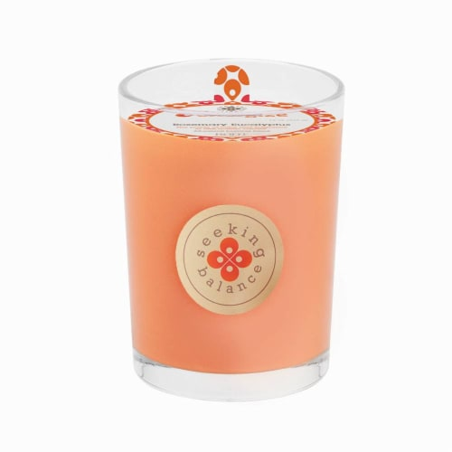 Root Candles Seeking Balance Energize Scented Candle Perspective: front