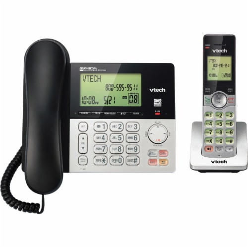 Vtech Standard Phone and Cordless Phone System Perspective: front
