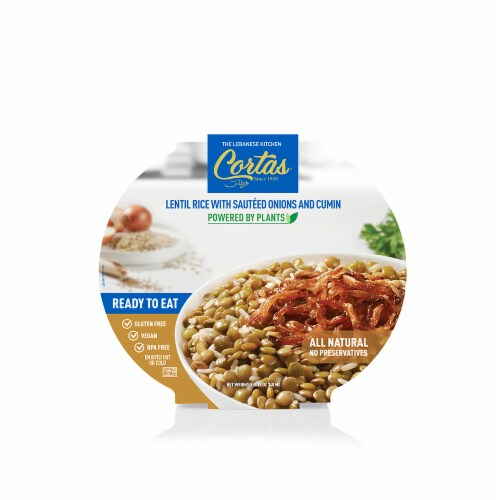 Cortas® Lentil Rice With Sauteed Onions & Cumin Perspective: front