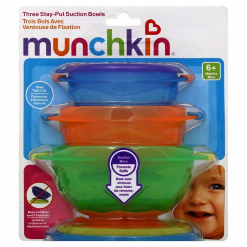 Munchkin Stay-put Suction Bowls Perspective: front
