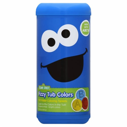 Sesame Street Fizzy Tub Colors Perspective: front
