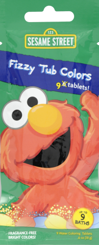 Sesame Street Fizzy Tub Color Packet Perspective: front