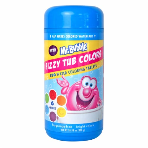Mr. Bubble Fizzy Tub Water Coloring Tablets Perspective: front