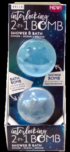 Hallu Cosmic Interlocking 2-in-1 Bath Bomb Perspective: front