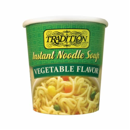 Tradition Vegetable Beef Instant Noodle Soup Perspective: front