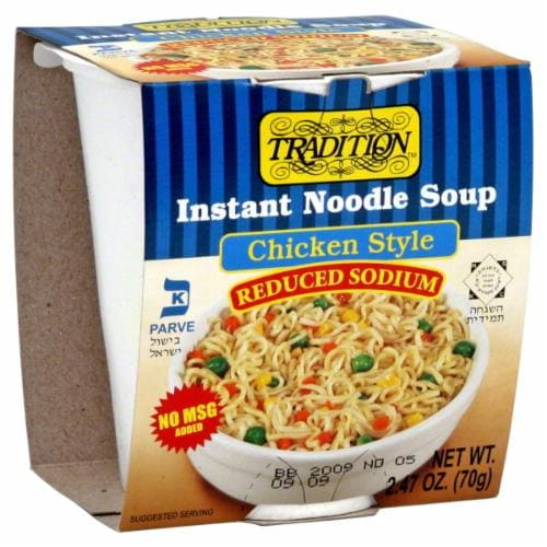 Tradition Chicken Reduced Sodium Instant Noodle Soup Perspective: front