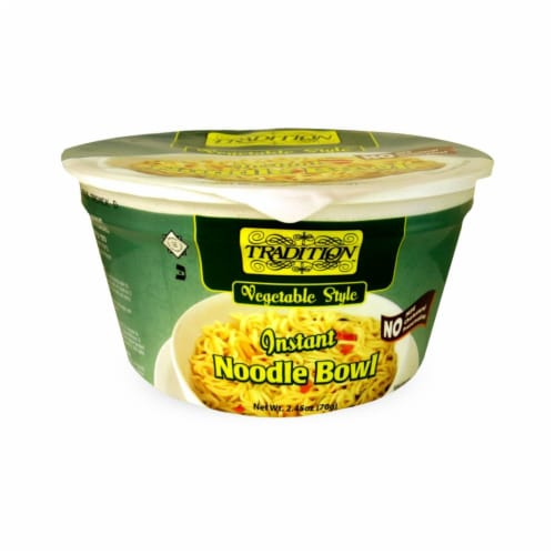 Tradition Vegetable Instant Noodle Soup Perspective: front