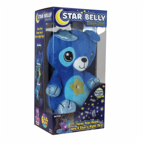 Star Belly Dream Lites Puppy Huggable Night-Light - Blue Perspective: front