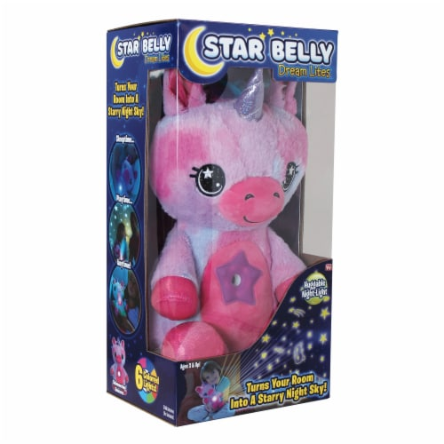 Star Belly Dream Lites Unicorn Huggable Night-Light - Pink / Purple Perspective: front