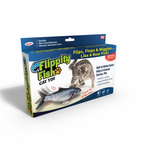 Ontel Flippity Fish Cat Toy Perspective: front