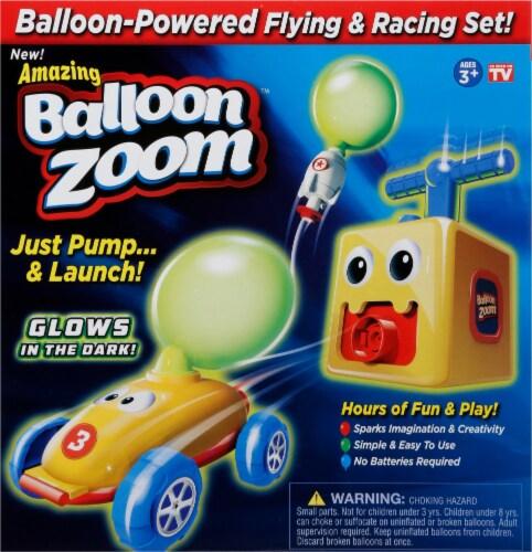 Balloon Zoom Flying & Racing Set Perspective: front