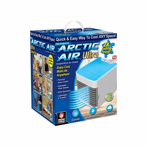 Arctic Air Portable Evaporative Cooler - Blue & White Perspective: front