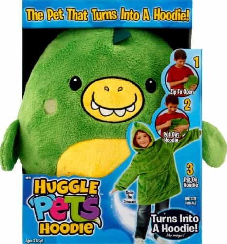 Huggle Pets Dinosaur Animal Hoodie - Green Perspective: front