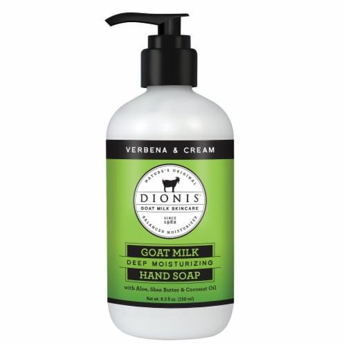 Dionis Goat Milk Verbena & Cream Hand Soap Perspective: front