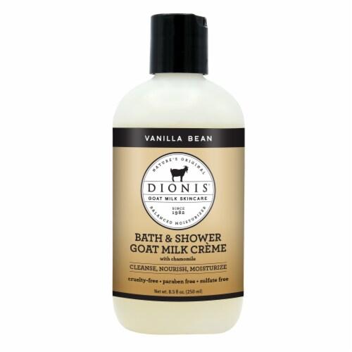Dionis Natural Goat Milk Spa Treatment Vanilla Bean Bath & Shower Creme Perspective: front