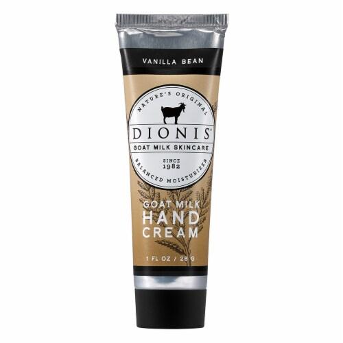 Dionis Vanilla Bean Goat Milk Hand Cream Perspective: front