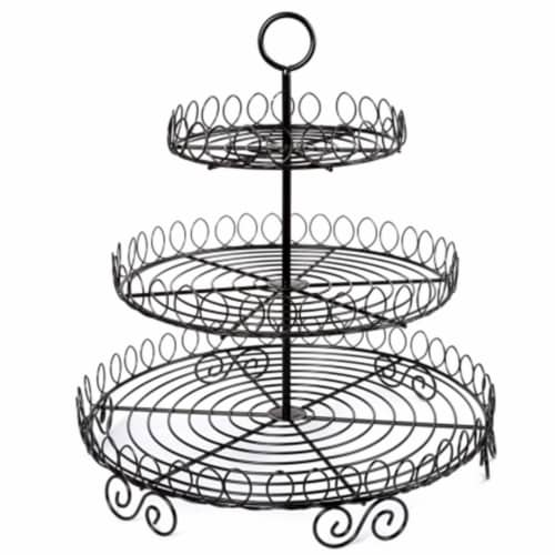 EVCO International Iron Works 3 Tier Cup Cake Rack Perspective: front