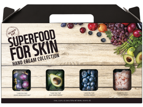 FARMSKIN 4 Packs Superfood Hand Cream Collection Perspective: front