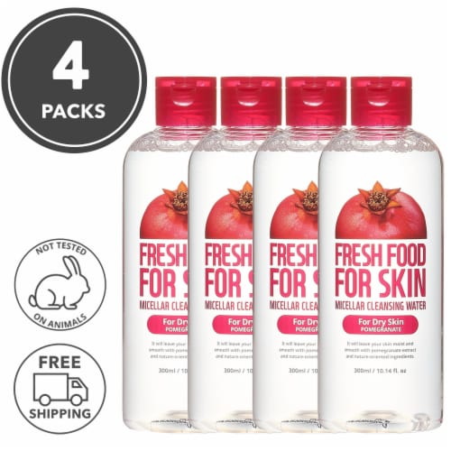 FARMSKIN 4 Set Pomegranate Cleansing Water For Dry Skin (Freshfood) Perspective: front