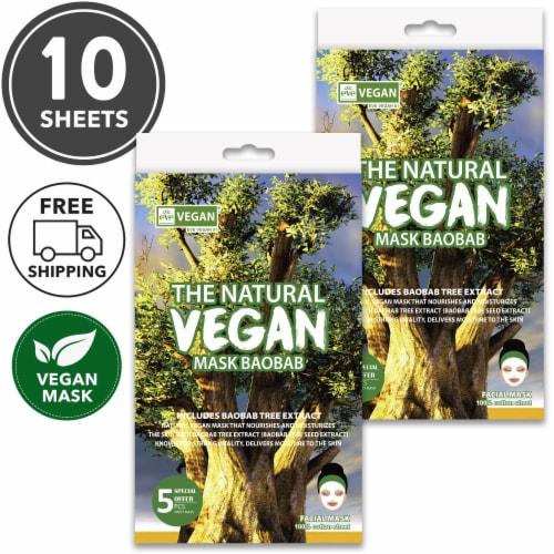 She's Lab 10 Packs Nourishing Baobab Vegan Masks Perspective: front