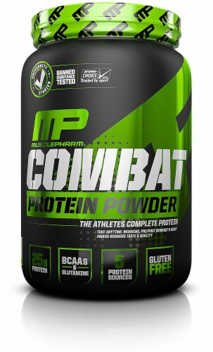 Muscle Pharm  Combat Protein Powder®   Vanilla Perspective: front