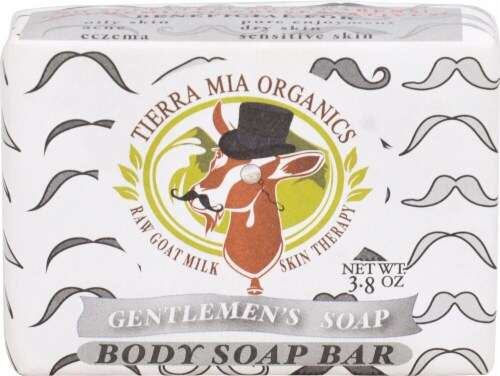 Tierra Mia Organics  Raw Goat Milk Skin Therapy Body Soap Bar Gentlemen's Perspective: front