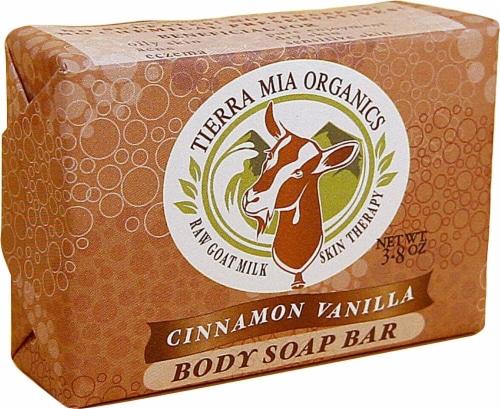 Tierra Mia Organics Body Soap Bar Cinnamon Vanilla Perspective: front