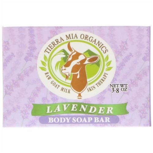 Tierra Mia Organics Body Soap Bar Lavender Perspective: front