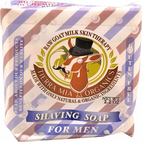 Tierra Mia Organics  Shaving Soap For Men Perspective: front