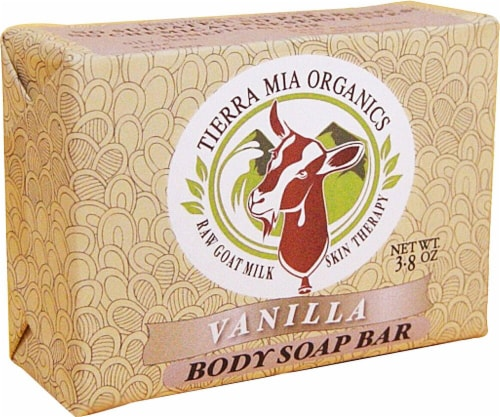Tierra Mia Organics Body Soap Bar Vanilla Perspective: front