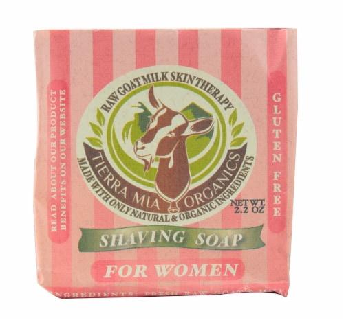 Tierra Mia Organics Shaving Soap for Women Perspective: front